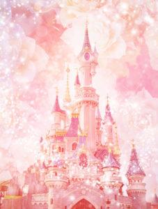 ピンクのシンデレラ城の復縁・恋愛運アップ、恋が叶う待ち受け