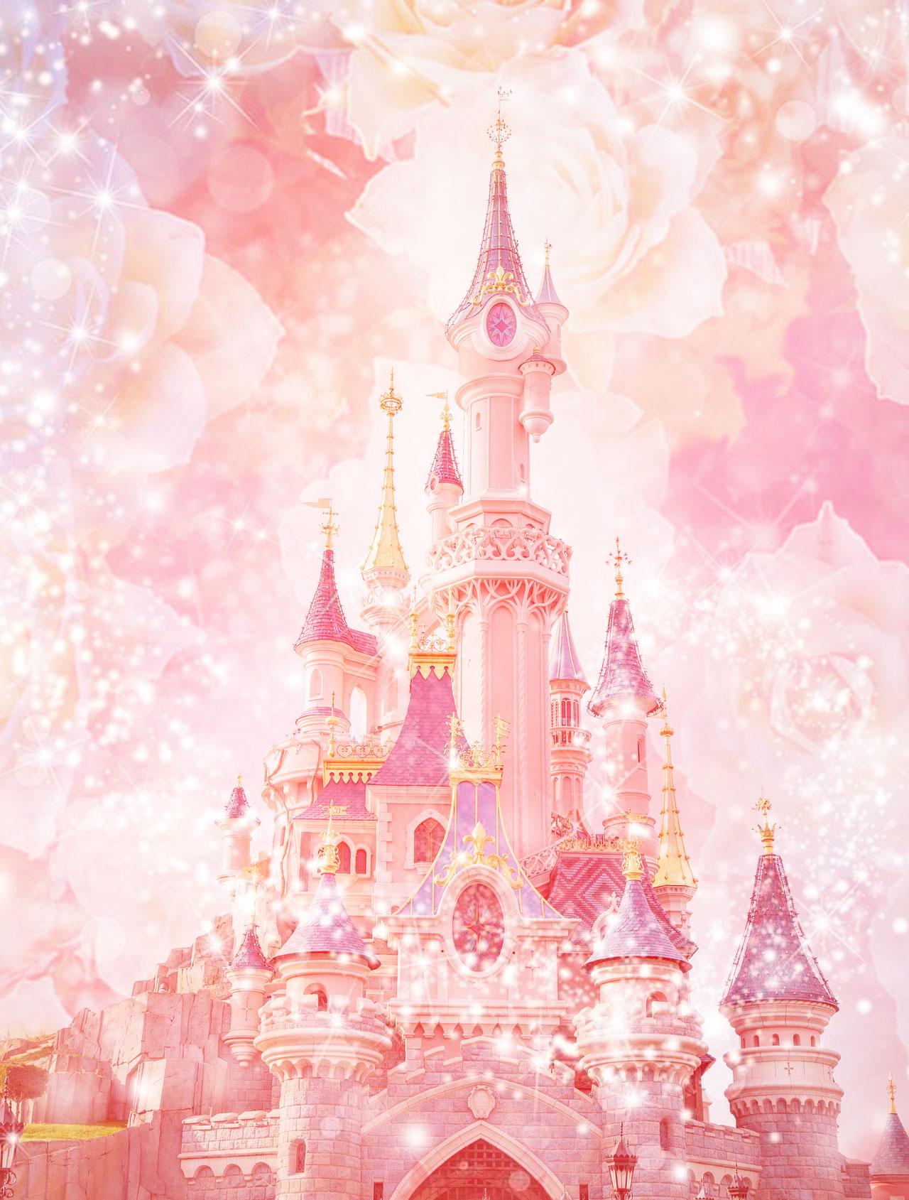 ピンクのシンデレラ城の復縁 恋愛運アップ 恋が叶う待ち受け画像