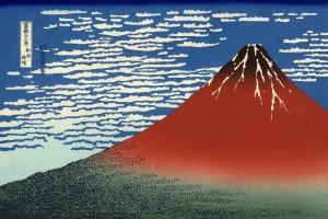 赤富士で運気アップの携帯待ち受け