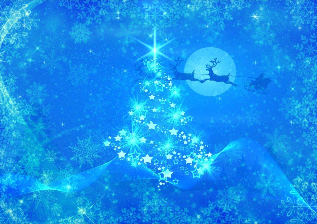 青のクリスマスツリー