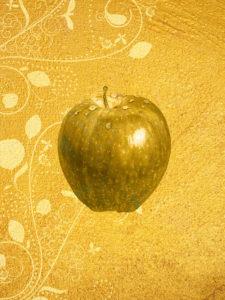 金の林檎の金運アップ、運気アップの壁紙
