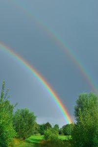 青空の虹、ダブルレンボーで願いが叶う待ち受け