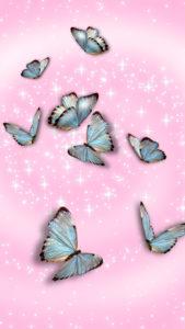 幸運と金運を呼ぶ青い蝶ユリシスの待ち受け
