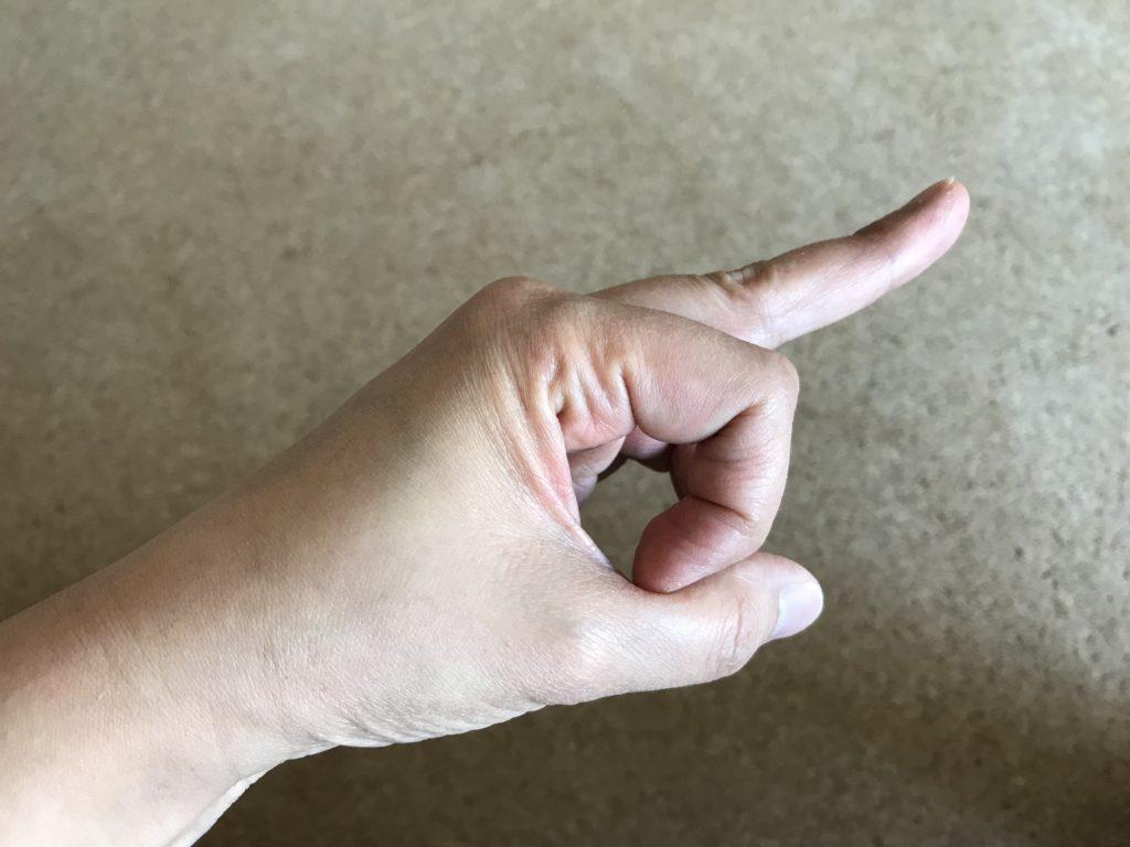 「ラプロー」の指の形