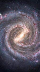 天の川の中心にある銀河の画像で略奪愛が成功する背景画像