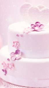 ウェディングケーキで結婚運が上がる、理想の相手が見つかる、結婚できる待ち受け画像