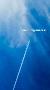 飛行機雲でプロポーズの待ち受け画像