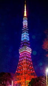 片思いに最強の恋ジンクス、東京タワーのクリスマスイルミネーションの待ち受け画像