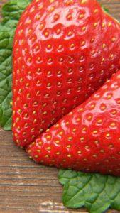 恋の願いが叶う、誠実な愛のミントとイチゴの待ち受け