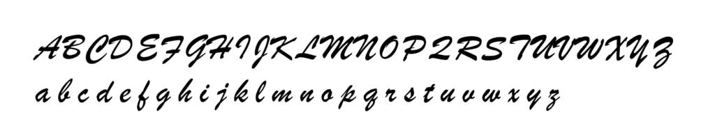 ローマ字で筆記体