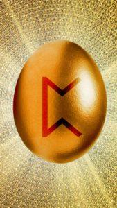金の卵と金運ルーンのギャンブル運、金運アップの待ち受け画像、背景画像