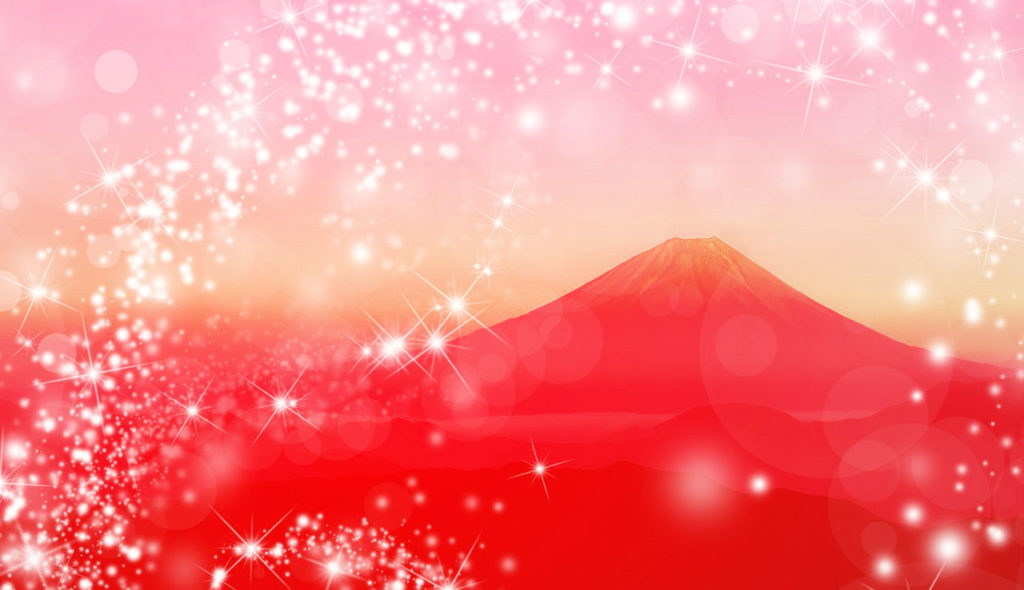 赤富士でついてる、運気最強待ち受け