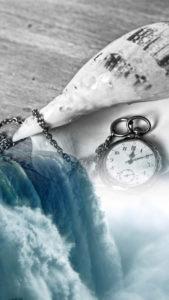 時計と海の縁切り待ち受け