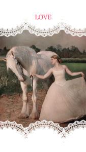 恋がうまくいく待ち受け画像、白馬のお姫様