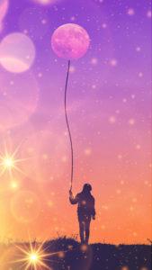 ピンクの月の待ち受けで恋愛成就!恋の願いが叶う!