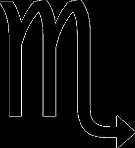蠍座(誕生日10月24日~11月21日)のマーク
