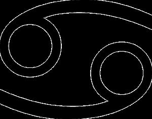 蟹座(誕生日6月22日~7月22日)のマーク