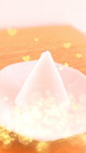 ピンクの盛り塩で恋愛成就の待ち受け画像