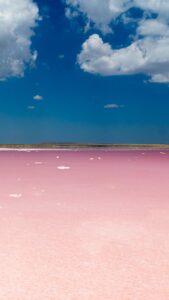 ピンクソルトレイク(ピンクの塩湖)の待ち受けで恋の問題がなくなる待ち受け