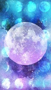 スーパームーン、皆既月食の待ち受け画像