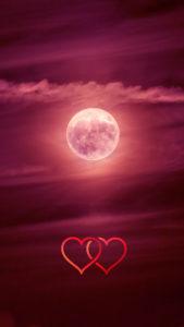 ペガサスとピンクムーンの満月で彼に惚れられる待ち受け、ラインの背景画像、トークルームの背景画像、壁紙