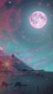 ストロベリームーン、満月で願いが叶う待ち受け、ラインの背景画像、トークルームの背景画像、壁紙