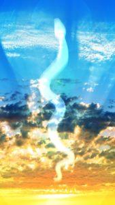 【運気爆上げ】白蛇様が天へ昇るおまじない待ち受け画像、龍神様の背景画像、壁紙