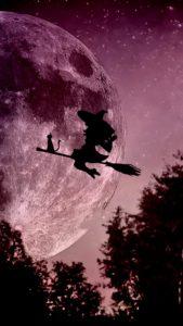 ハロウィンで願いを叶える魔女の待ち受け