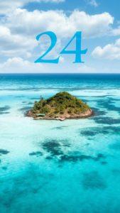 数字の「24」の待ち受け画像