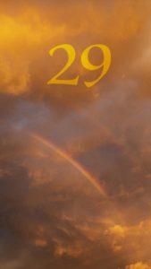 数字の「29」の待ち受け画像