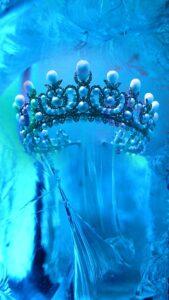 青の王冠の幸運になる壁紙、待受画像、背景画像