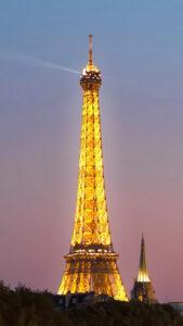 恋の願いが叶うエッフェル塔の待受画像、数字の29入りのと何も入っていないもの